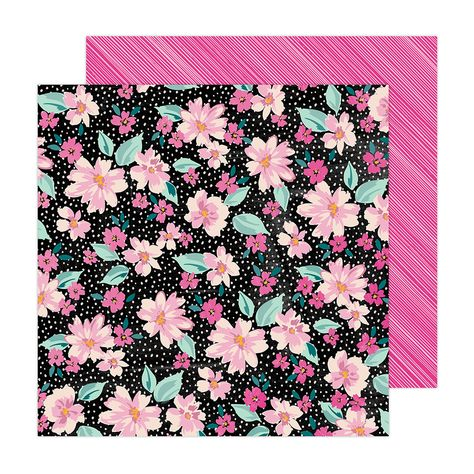 Amy Tangerine - Brave and Bold Collection - 12 x 12 Double Sided Paper - Midnight Garden