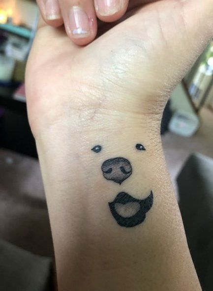 Dog Memorial Tattoo Google Search Tattoos For Daughters Wrist Tattoos Dog Tattoos