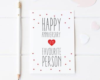 wedding anniversary size A6 comes with red envelope anniversary card friends anniversary 25th anniversary card wife husband