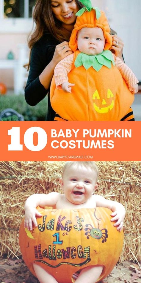 Little Pumpkin Halloween Baby Costume  Printed Striped Babygrow SHORT SLEEVE