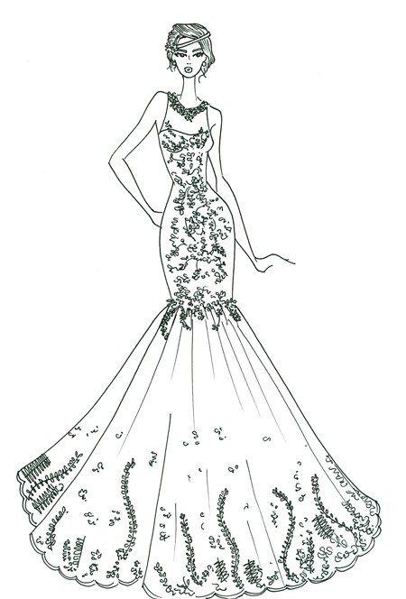 Married Life Com Imagens Esbocos De Vestido De Noiva Desenhos