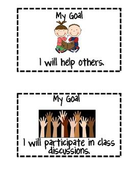 goal posters-hang in the room and challenge students to pick a weekly goal. $2.50