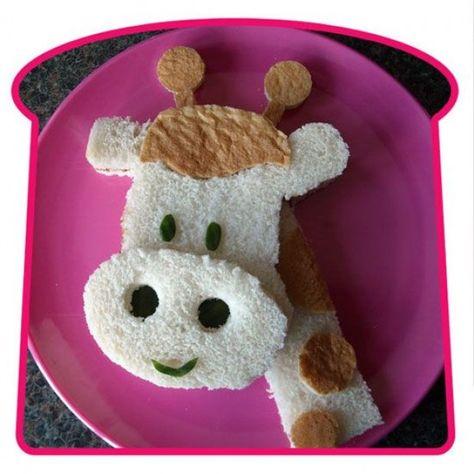 Sandwich art, too cute to eat:)