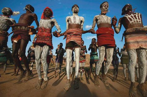 African traditional ceremonial dancing.