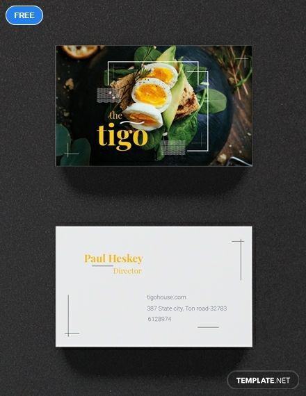 Restaurant Business Card Template Word Psd Apple Pages Illustrator Publisher Restaurant Business Cards Food Business Card Business Cards Creative Templates