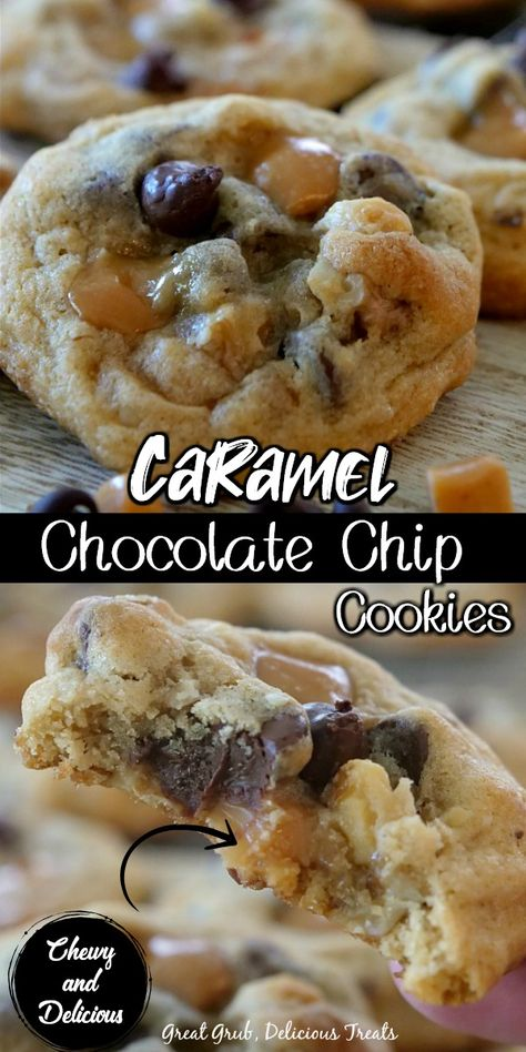 Mini Desserts, Cookie Desserts, Easy Desserts, Delicious Desserts, Dessert Recipes, Fall Cookie Recipes, Cookie Cups, Oreo Dessert, Caramel Chocolate Chip Cookies