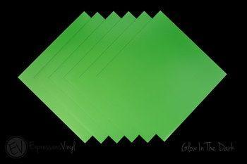 Glow In The Dark Vinyl 12 X24 Sheet In 2020 Expressions Vinyl Vinyl Sheets Cheap Heat Transfer Vinyl