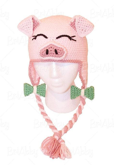 The Perfect Crochet Pig Hat Pattern (PDF FILE)  fe6e7bc1001