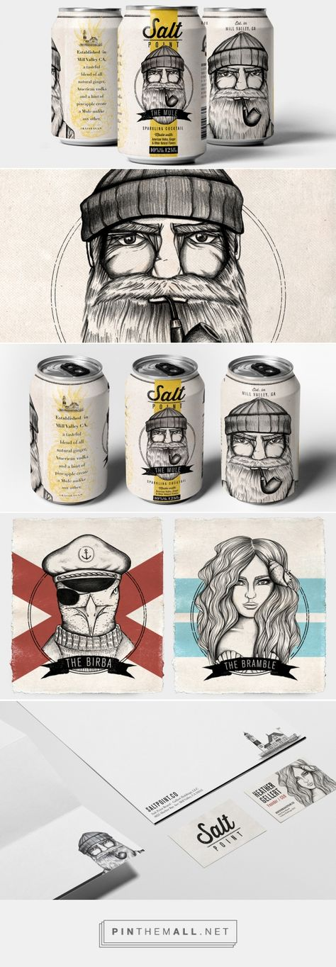 Salt Point — Raise a can, Salt Point is calling. This amazing cocktail in a can blends together some spicy and fruity flavors for a Moscow Mule unlike any you've ever had before. / designed by Sinan Dagli