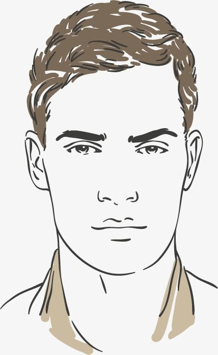 Fashion Male Character Sketch Vector Material Design Hand Painted Sketch Men Talking Head Png Transparent Clipart Image And Psd File For Free Download Male Face Drawing Character Sketch Face Illustration