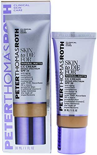 Chic Peter Thomas Roth Skin To Die For Mineral Matte Cc Cream Spf 30 Tan For Women 1 Fl Oz Ski Lemon Body Lotion Skin Care Devices Anti Aging Skin Products