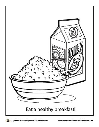 breakfast coloring sheets - Google Search | Happy National Oatmeal ...