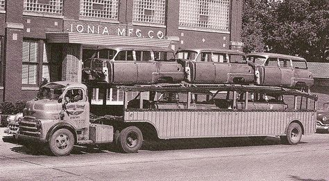 Dodge Cab-Over-Engine (COE) Truck & New 1954 Dodge Station Wagon Bodies (Ionia Mfg. Co.)