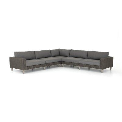 Bungalow Rose Franko Outdoor 3 Piece Sectional 3 Piece Sectional Outdoor Outdoor Sectional