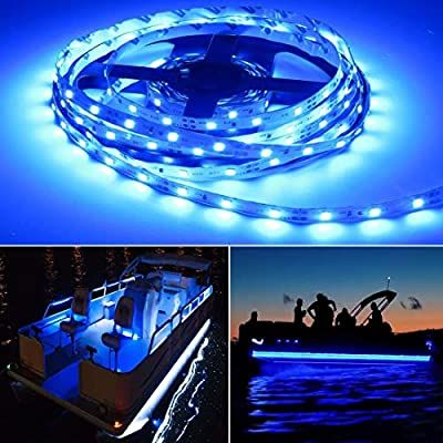 Amazon Com Seapon Pontoon Boat Light Marine Led Light Strip For Duck Jon Bass Boat Sailboat Kayak Led F In 2020 Boat Lights Pontoon Boat Decor Luxury Pontoon Boats