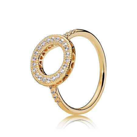 Sparkling Circle Stud Earrings   Gold plated stone, 925 sterling ...