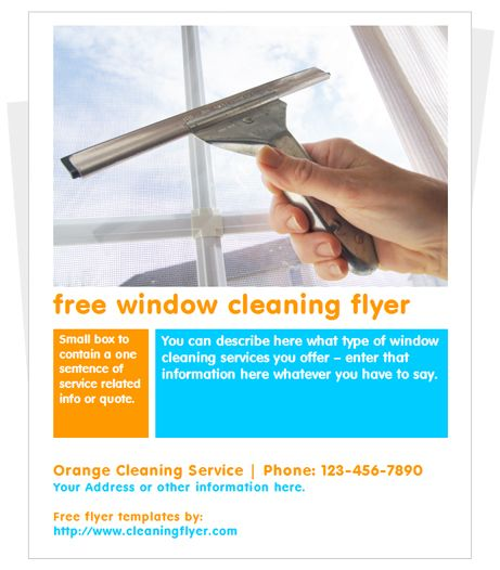 Free Window Cleaning Flyer Template Cleaning Flyers Window Cleaner Business Flyer Templates