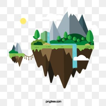 Floating Snow Mountain Forest Island Waterfall Clipart Mountain Range Forest Png And Vector With Transparent Background For Free Download Mountain Illustration Snow Mountain Snow Forest
