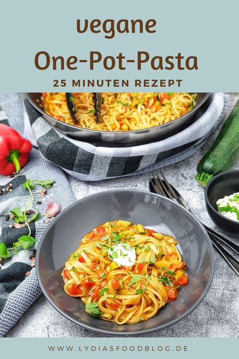 One Pot Pasta mit Paprika und Zucchini, ein super tolles ...