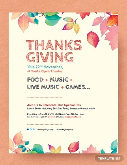 Free Thanksgiving Flyer Templates For Word Free Flyer Templates Flyer Event Flyer Templates
