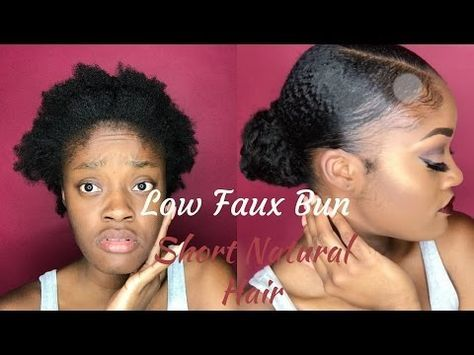 Super Cute Hairstyles For Short Natural Hair Half Up Space Bun High Puff Double Top Knot Youtube Natural Hair Styles Womens Hairstyles Bun Hairstyles