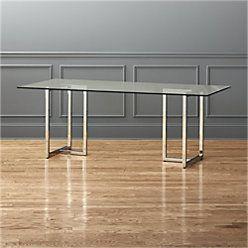 Silverado 80 Glass And Chrome Dining Table Reviews Cb2