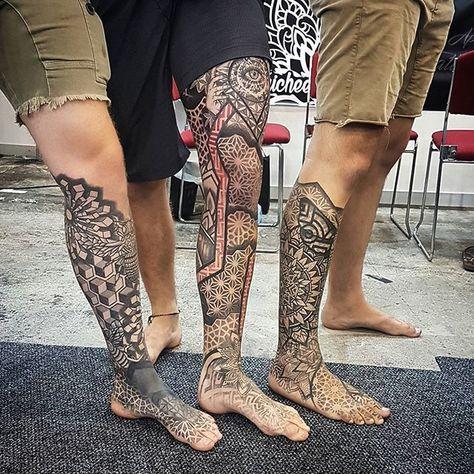 Leg sleeve tattoo, leg tattoo men, chest tattoo, mandala tattoo m