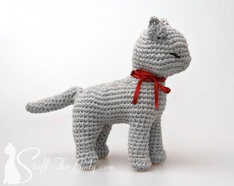 Cat Amigurumi Pattern seamless crocheted kitten by StuffTheBody