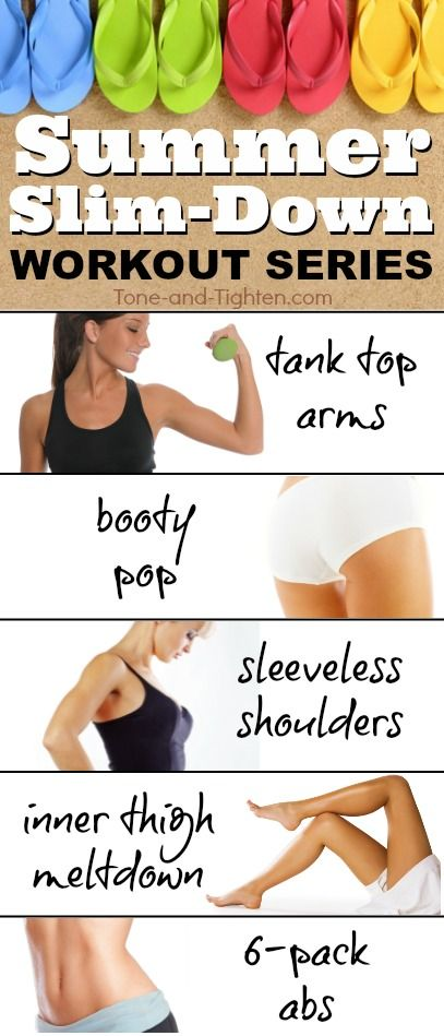 The perfect series of workouts to help you trim down and tone up just in time for summer! From Tone-and-Tighten.com