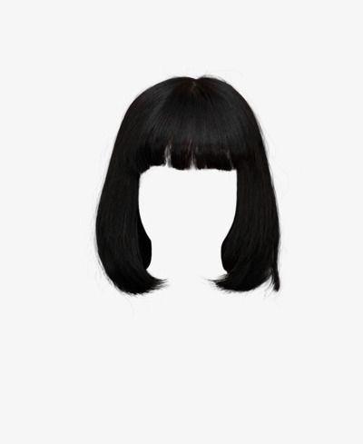 Short Black Hair With Bangs Black Hair Aesthetic Hair Clips Hair Png