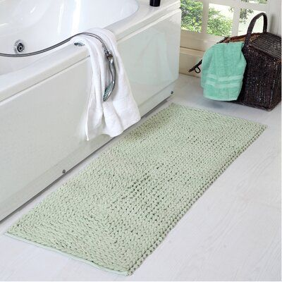 Highland Dunes Monica Braided Chenille Multiple Non Slip Bath Rug Wayfair Cotton Bathroom Rugs Cotton Bath Rug Bathroom Runner Rug