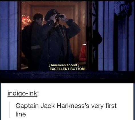 Doctor Who: Captain Jack's first line talking about Rose. In this episode I think The Doctor was actually a little bit jealous David Tennant, Space Man, Sherlock, Supernatural, Captain Jack Harkness, John Barrowman, Don't Blink, Torchwood, My Tumblr