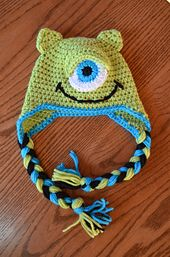 Ravelry: make a monster baby hat pattern by Mary Hodges. Free pattern.