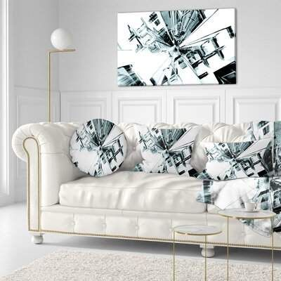 East Urban Home Fractal 3d Cubes Everywhere Throw Pillow Living Room Decor Modern Contemporary Bedroom Decor Lounge Decor