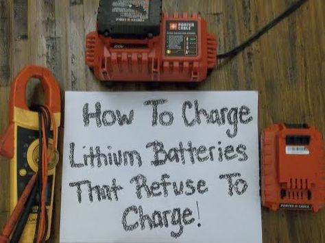 WARNING => This amazing restore old batteries for sealed lead acid battery recovery appears to be totally excellent, must keep this in mind the very next time I've a bit of bucks saved. Cordless Drill Batteries, Ryobi Battery, Cordless Power Tools, Power Tool Batteries, Battery Hacks, Battery Tools, Battery Recycling, Porter Cable, Lead Acid Battery