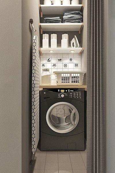 21+ Cacher machine a laver dans cuisine inspirations