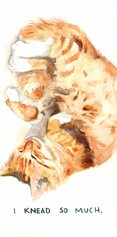 I Knead So Much Chat Aquarelle