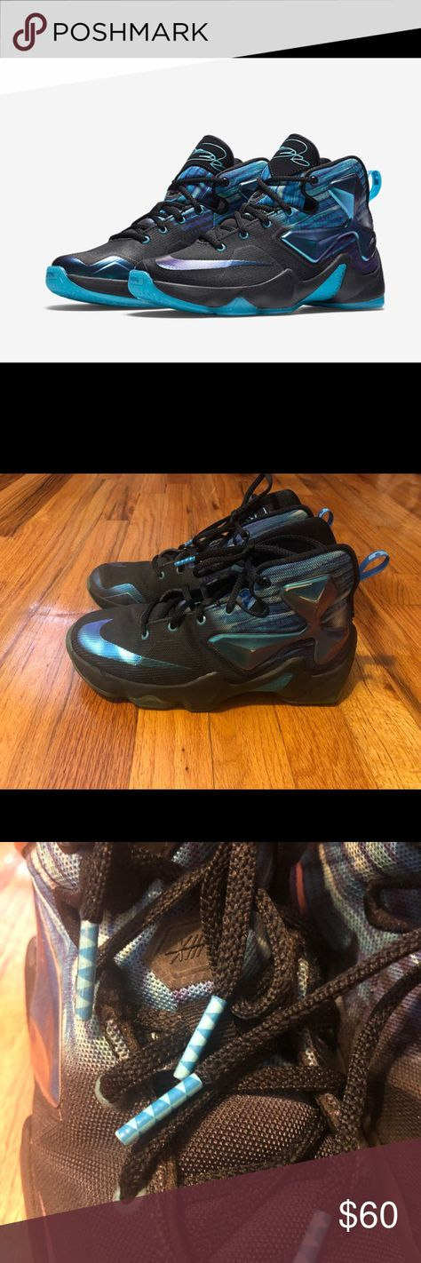 974b8809c0fc Nike LeBron 13 Sudden Impact sneakers boys sz 4Y Good pre-owned condition  Normal wear Please refer to pics Nike Shoes Sneakers