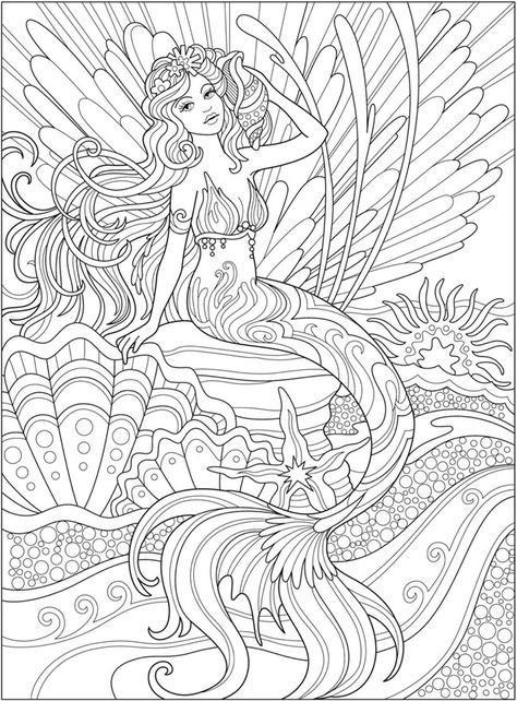 300 Mermaid Coloring Pages For Adults Ideas Mermaid Coloring Pages, Mermaid  Coloring, Coloring Pages