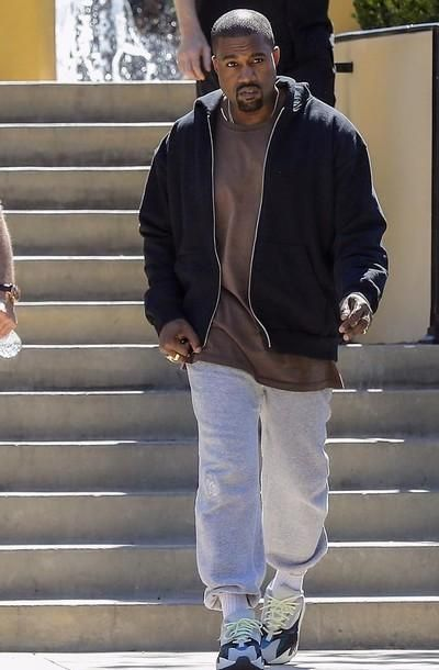 Kanye West is rocking a pair of Yeezy