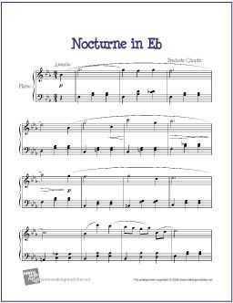 Nocturne In E Flat Chopin With Images Piano Sheet Music