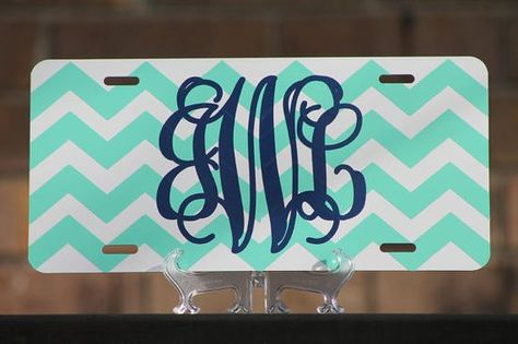 Personalized License Plate - Monogrammed