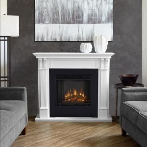 Real Flame Silverton 48 In Electric Fireplace In White G8600e W