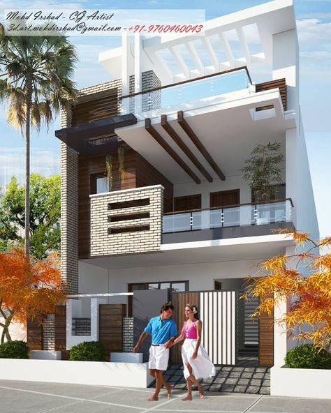 Front Face Village House Design Duplex House Design My House Plans