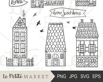 Doodle House Clipart House Vector Art Home House City Town House Png Home Vector Download House Illustrations 101 Clip Art House Illustration How To Draw Hands