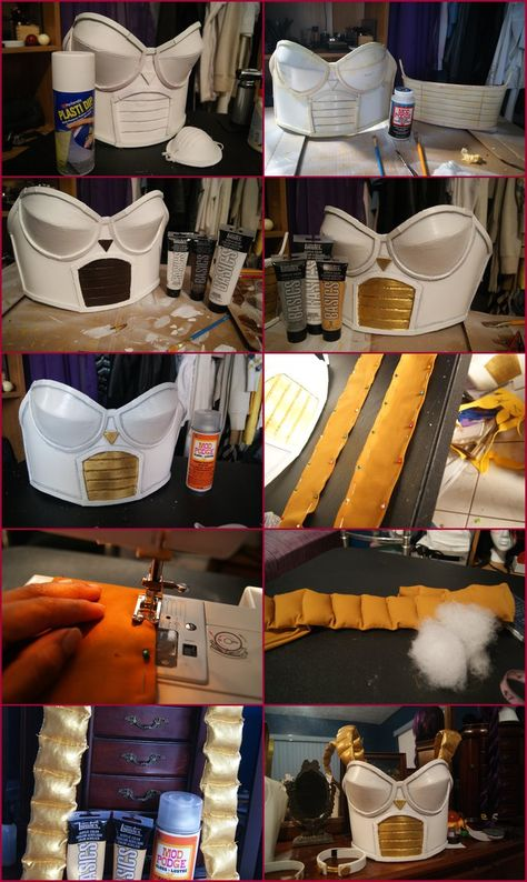 I Finally have the photo on how I made my Dragonball Z Saiyan princess armor. It was a good learning progress on how to make armor better with for. DragonBallz Z Saiyan Princess Armor Tutorial