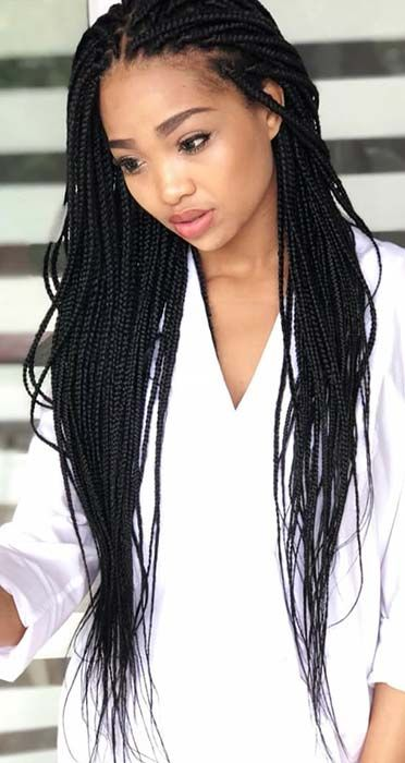 23 Best Long Box Braids Hairstyles And Ideas Stayglam Box Braids Styling Braided Hairstyles Box Braids Hairstyles