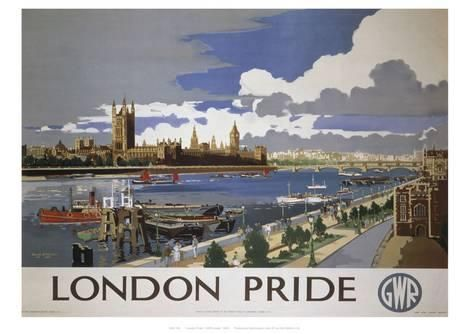 LMS London Houses of Parliament Railway Poster A3 A2 Reprint