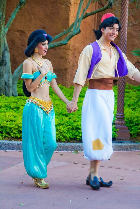 Jasmine and Aladdin. She is what I always imagined Jasmine to look like. Aladdin not so much