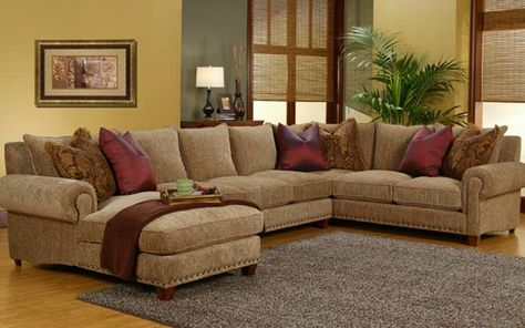 Wonderful Sectional   Robert Michael, Rocky Mountain | Rustic Home Furniture |  Pinterest | Ottomans, Pillows And Living Rooms